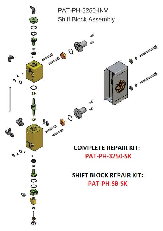 PAT-PH-3250-INV SHIFT BLOCK ASSEMBLY
