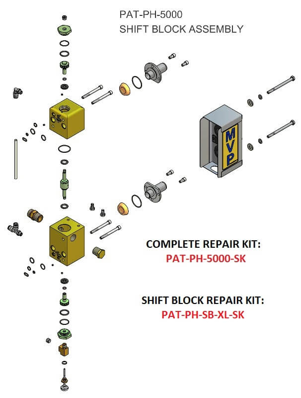 PAT-PH-5000 SHIFT BLOCK ASSEMBLY