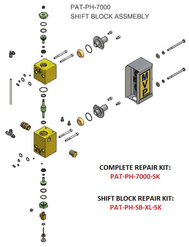 PAT-PH-7000 SHIFT BLOCK ASSEMBLY