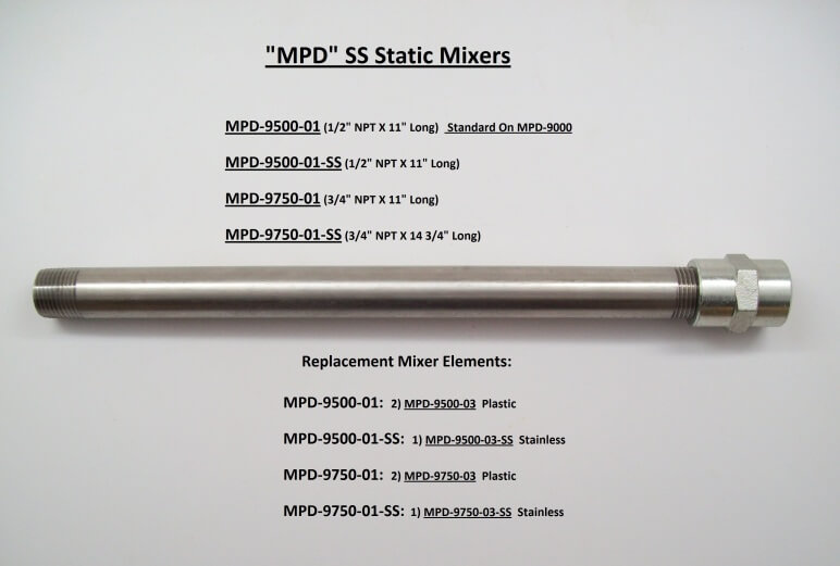 MPD STATIC SS MIXERS