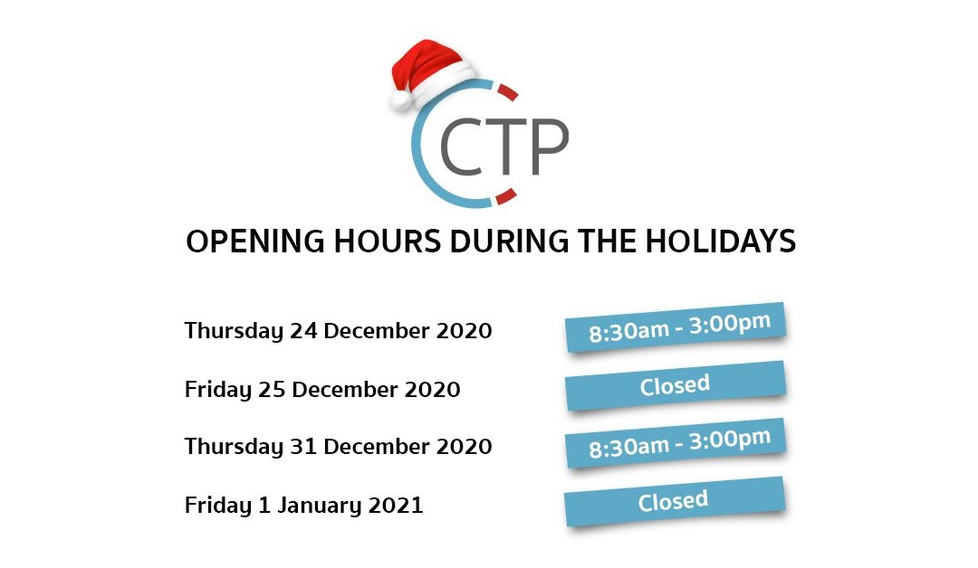 Opening hours during the holidays