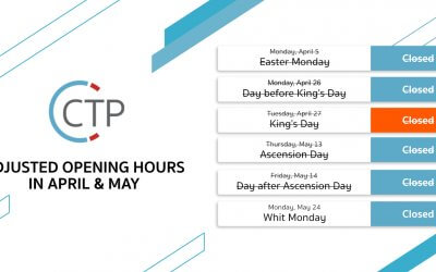 Adjusted opening hours